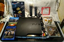 Sony Playstation 3 PS3 Slim 160GB CECH-3001A Console Lot w/ Games System Bundle