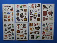 8 Sheets TEMPORARY TATTOOS Pirate Tattoo Kids Tattoo for Pirate Theme Party