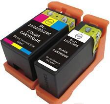 2x Dell Series 21,22 & 23,24 ink cartridges black+colour V313,V515,P513,P713/715