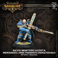 Warmachine Mercenaries Savio Montero Acosta Ordic Thamarite PIP 41132