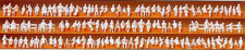 Preiser 79007 Seated People (Pk120) Unpainted Figures N Gauge