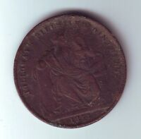 1858 Token 1 Penny Professor Holloway's Pills & Ointment London England GB