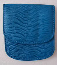NEW RAIKA BLUE LEATHER CITY WALLET POCKET CURRENCY COINS