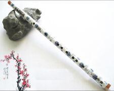 Exquisite Chinese Instrument,Underglaze Blue Bitter Bamboo Flute Dizi