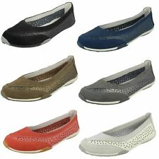 Ladies Down To Earth Suede Leather Slip On Ballerina Shoes