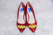 Wonder Woman Red Glitter Heels For Halloween *BrandNew