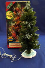 """Lemax Fibre Optics White-Tipped Shimmering Spruce 9"""" Battery Operated 94432 A"""