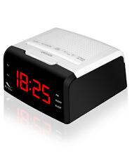 RADIO RELOJ DESPERTADOR DIGITAL SYTECH SY1036- DOBLE ALARMA- USB CARGADOR