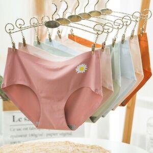 Women's Ice Silk Panties Little Daisy Graphene Seamless Briefs Soft Knickers