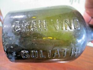 gran vino goliath olive green vtg collectible bottle