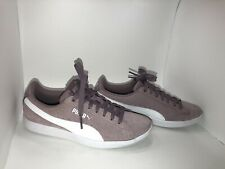 Puma Woman's Vicky Suede Tennis Shoes Purple And White Size 6