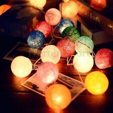 3M 20LEDs Weihnachten Baumwolle Ball Lichterkette Party Hochzeit Nacht Lampe KUS