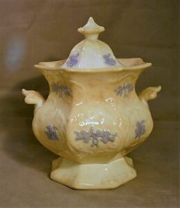 Mid-Victorian Bone China Covered Sugar Bowl c. 1860