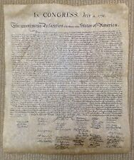 REPLICA OF THE DECLARATION OF THE 13 UNITED STATES OF AMERICA JULY 4, 1776