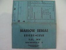 RARE - Photo-Ciné - MAISON SEMAL - 1950 - Stanleyville - Congo -Pochette Négatif