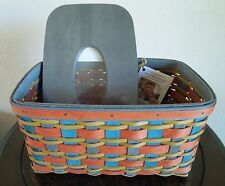 LONGABERGER~2016~FALL IN LOVE~FAMILY TISSUE BASKET & WOODCRAFTS LID COMBO~NEW!