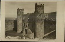 Wales - Harlech Castle c1910 Real Photo Postcard