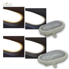 LED Kellerleuchte 6/12W Außenleuchte IP44 Ovalleuchte Kellerlampe Wandleuchte