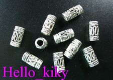 100 Pcs Tibetan silver wire curved barrel spacers A675