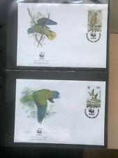 Saint Lucia 1987 Satz WWF Blaustirnamazone Ersttagsbriefe