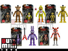 "FUNKO FIVE NIGHTS AT FREDDY'S SET OF 5 GOLDEN CHICA BONNIE FOXY 5"" FIGURES"