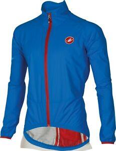 Castelli Riparo Men's Cycling Rain Jacket Size Medium & Large Blue