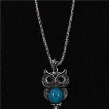 CONSVILA Antique Silver Plated Retro Cutie Owl Chain Necklaces