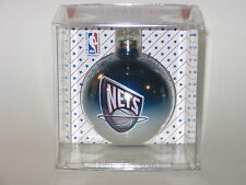 """New Jersey Nets (Multi Color) 2 5/8"""" Glass Hanging Christmas Ornament"""