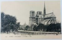 Vintage Paris France RPPC Notre Dame Cathedral The Apse Real Photo Postcard