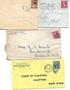 4 US Vintage COVERS May 18 1887, 19th CENTURY, - 258- 3¢ Wash,  # 210 - 2¢ Wash