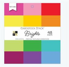 "DCWV 6"" x 6"" Cardstock Stack ~ BRIGHTS Printed Textured -48ct. ~PS-005-00549"