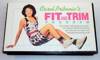 CAROL PRIBONIC'S FIT AND TRIM PROGRAM VHS Home Exercise Workout Fitness RARE HTF