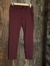 Liverpool 4/27 Port Wine Maroon Red Pull On Skinny Ponte Stretch Dress Pants