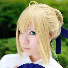 Fate Zero Saber Milk Gold Styled Pretty Cosplay Full Wig