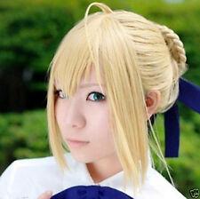 Fate Zero Saber Milk Gold Styled Pretty Cosplay Full Wig