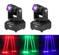 2pcs LED Mini Moving Head Beam Lights DMX512 Stage Lighting Party Light J1B6