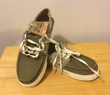 SANUK Bisque Boat Shoes Slip On Casual Faded Olive Men's Size 8 M