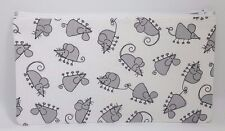 Cute Grey Mice Fabric Handmade Pencil Case Make Up Bag Storage Pouch