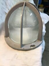 Vintage Industrial Crouse Hinds Explosion Proof Light Fixture Glass Shade &Cage