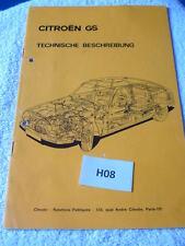 Citroen GS Technische Beschreibung H08 - gebraucht