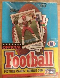 1989 Topps Football  Wax box factory sealed 36 packs rare HOF