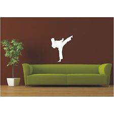 Schatten Wandtattoo  Karate Judo Kampfsport Sport Wandaufkleber Sticker