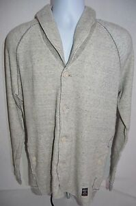 DIESEL Man's SMOG Button Up Sweatshirt Jacket NEW  Size X-Large  Retail $158