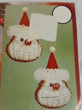 Vintage Walco Christmas Santa Claus Red Bead Sequin Ornament Kit