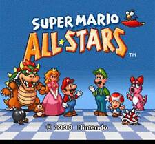 SUPER MARIO ALL-STARS - SNES Super Nintendo 4 in 1 Game