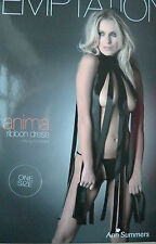 Ladies Womens Ann Summers Anima Black Ribbon Dress Boxed Hold UPS One Size