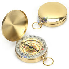 Portable Outdoor Camping Compass Classic Pocket Watch Bronzing Hiking Luminous