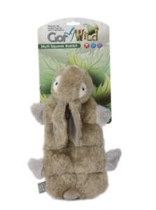 Gor Pets Wild Multi Squeak Rabbit Dog Toy   Unstuffed Flat 8 Squeaker Plush