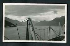 C1930s Photo: View of a Norwegian Fjord from Deck of RMS Atlantic