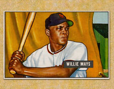 "1951 Bowman Willie Mays Baseball Card 11 x 14""  Photo Print"